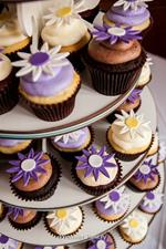 Flower Cupcakes for Wedding