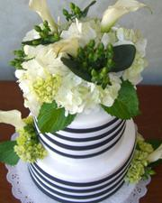 Black and White Striped Cake (6)