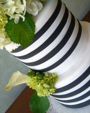 Black and White Striped Cake (7)
