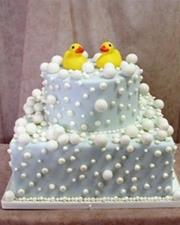 Two tier Rubber Ducky Cake