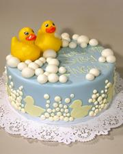 Single Tier Rubber Ducky cake