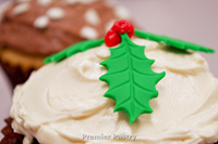 Holiday Cupcakes with holly