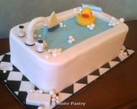 Bathtub Baby Shower Cake
